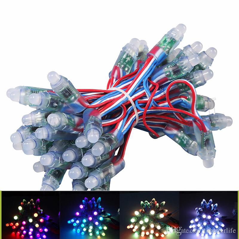 RGB WS2811 IC Led Pixel Module lights 12mm IP65 Waterproof point lights DC 5V String Christmas Addressable Light for Letters Sign advertise