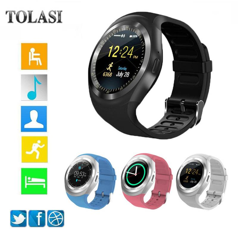 New 2018 Smart Watchs Round Support SIM &TF Card With Whatsapp And Facebook Men Women Business Smartwatch For Android Phone