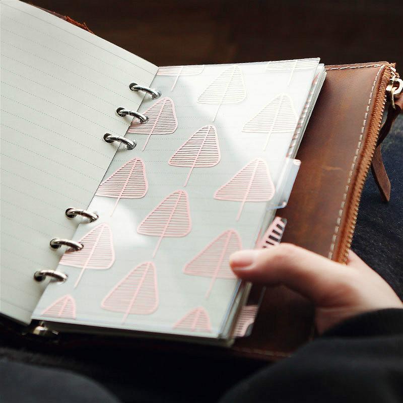 5шт А5 / А6 6 отверстий ПВХ NotDividers указатель страницы листовой молочный Блокнота разделители внутренний планировщик страниц индекс изоляции