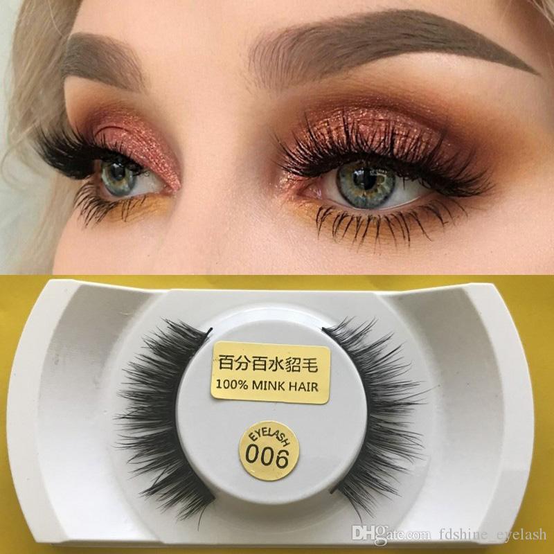 calidad superior 100% hecho a mano 3D visón pelo falso pestañas largo natural suave y gruesa para la belleza extensión de maquillaje