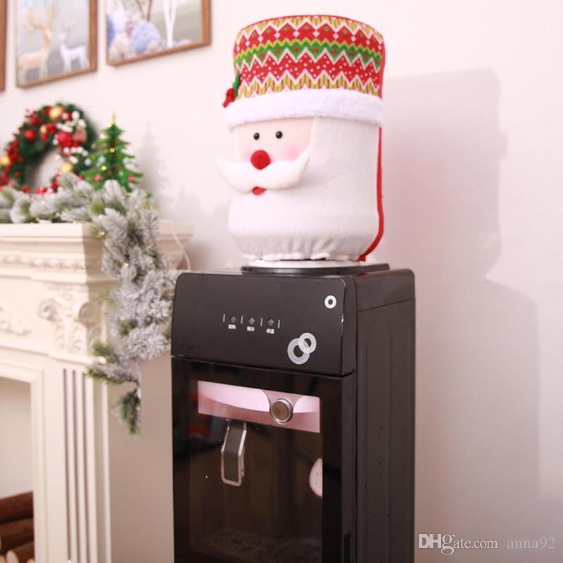 Père Noël Distributeur D'eau Seau Pot À Couvrir Couvercle Bureau Décoration de Noël pour la Maison Dress Up Livraison gratuite vente chaude