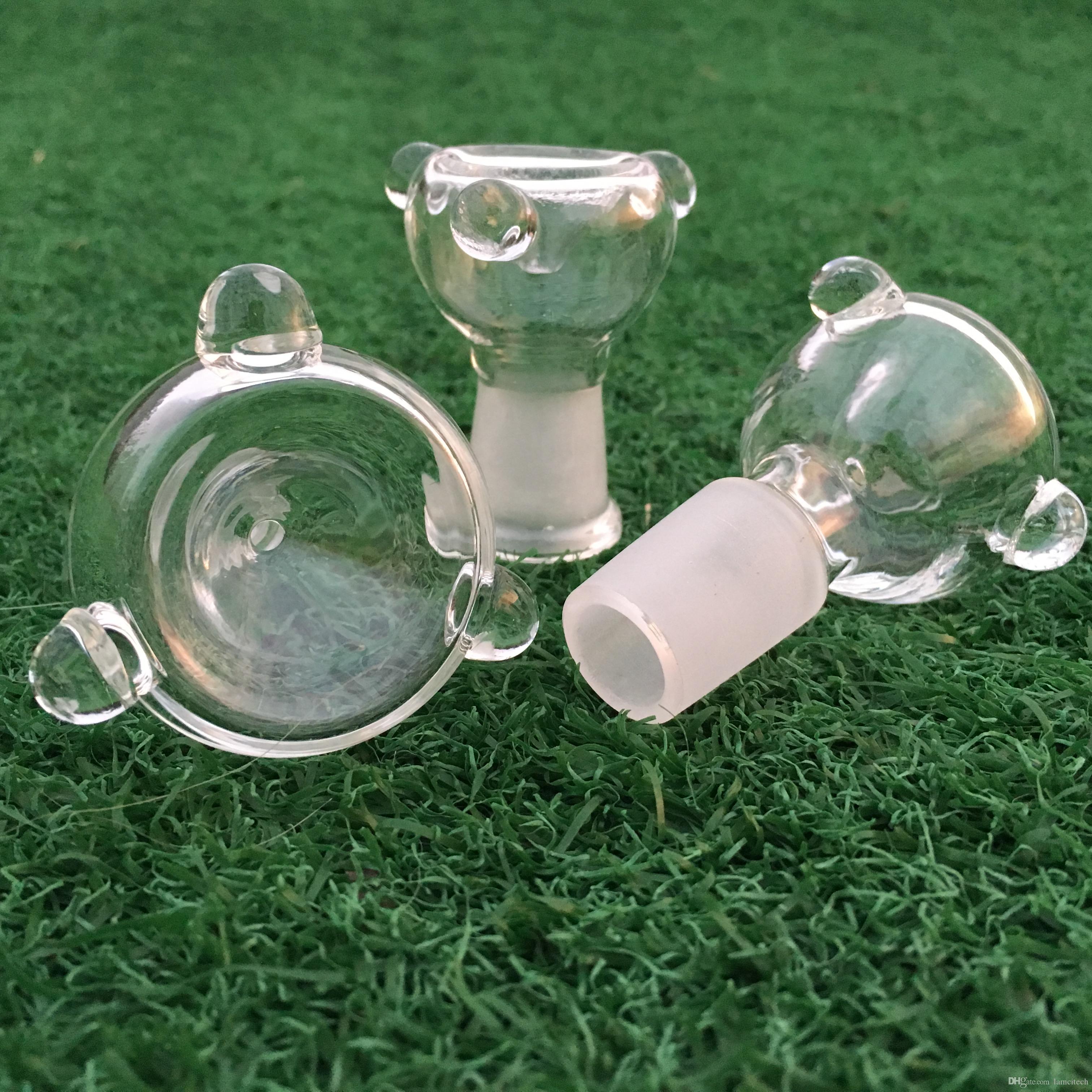 Buena calidad Pyrex Glass Burners Crystal Oil Bowl Burning Cup Accesorios de vidrio para vidrio Bong Tuberías de agua Hookahs