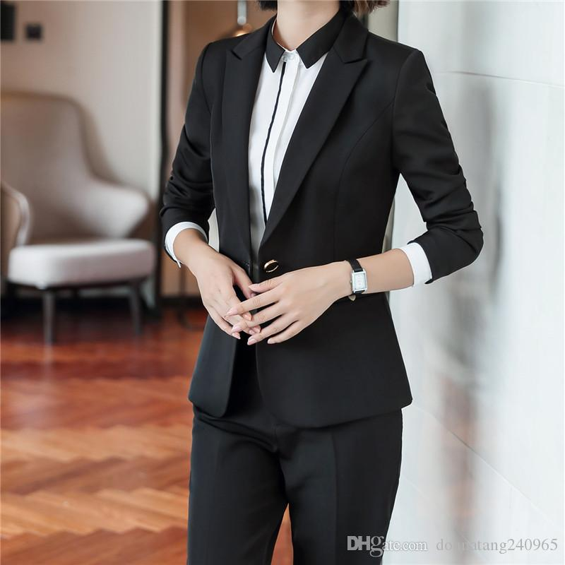 New Pattern Occupation Suit-dress Sleeve Self-cultivation Reticulate Fashion Business Correct Dress Clothes Winter women 2-pieces suits 6010