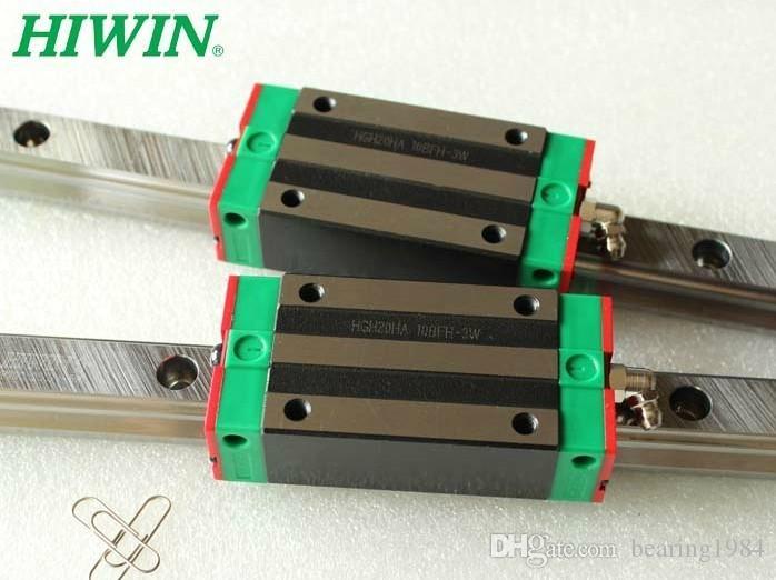 2 pz HIWIN Guida lineare HGR20 L2000mm rail + 4 pz HGH20CA blocchi per cnc