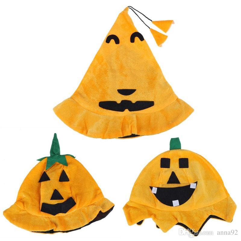 Halloween Hat Pumpkin Cap For Adult Halloween Costume Ghost Cosplay Clothing Halloween Costume Party Supplies free shipping 2018 new hot
