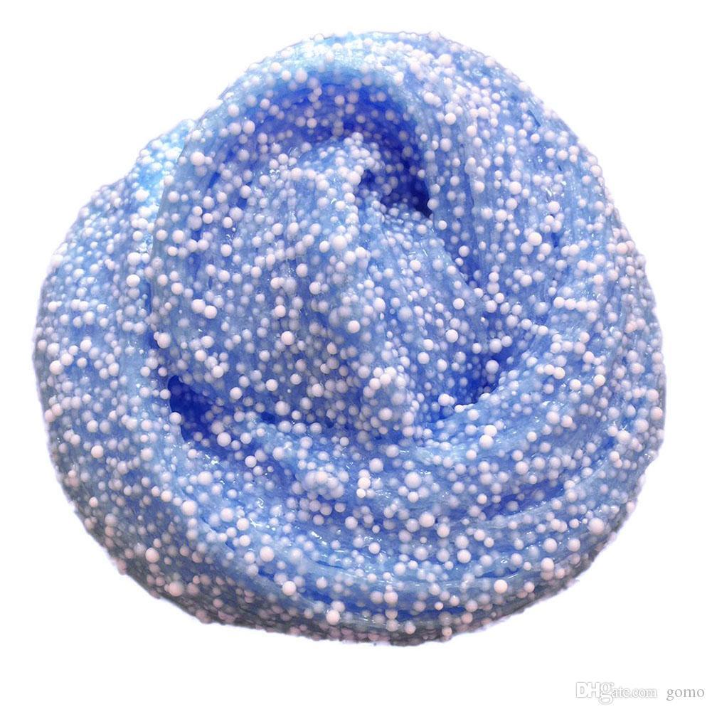 Lama de algodão de floco de neve colorido floco de neve para liberar argila brinquedos floam floam slime scented relevo crianças brinquedo lodo