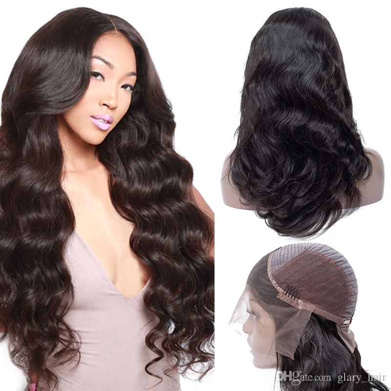 Brazilian Body Wave Lace Front Wig 100% Unprocessed Peruvian Human Hair Lace Front Wigs Indian Malaysian Human Hair Weave WholeSale
