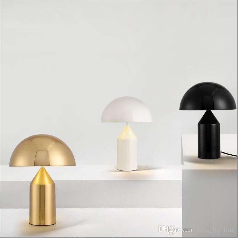 2019 Italy Design Oluce Gold Black White Metal Table Lamp Lights Desk Lamps Living Room Bedroom Loft Hotel Guest Room Project Table Lamp From