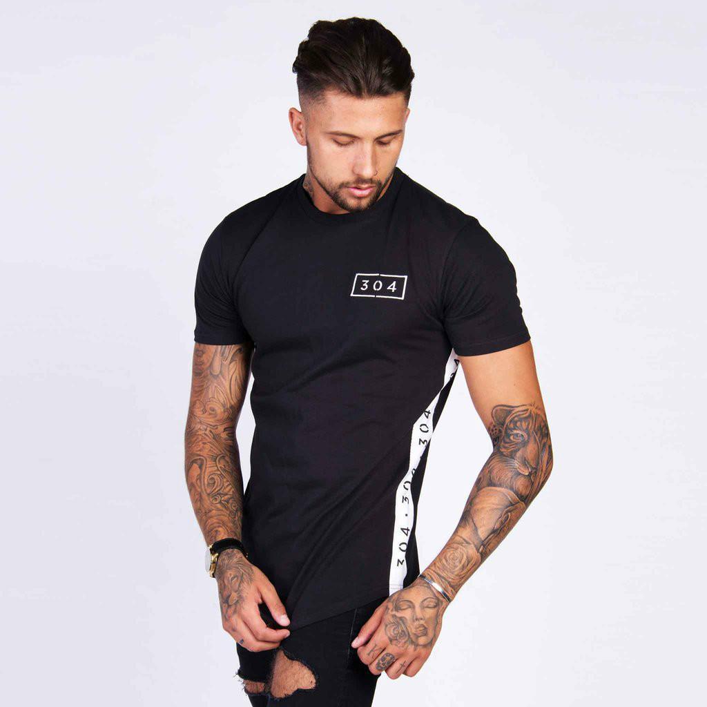 Mens Summer Gyms Fitness Marque T-shirt Crossfit Bodybuilding Slim Chemises Imprimé O-cou À Manches Courtes Coton Tee Tops Vêtements