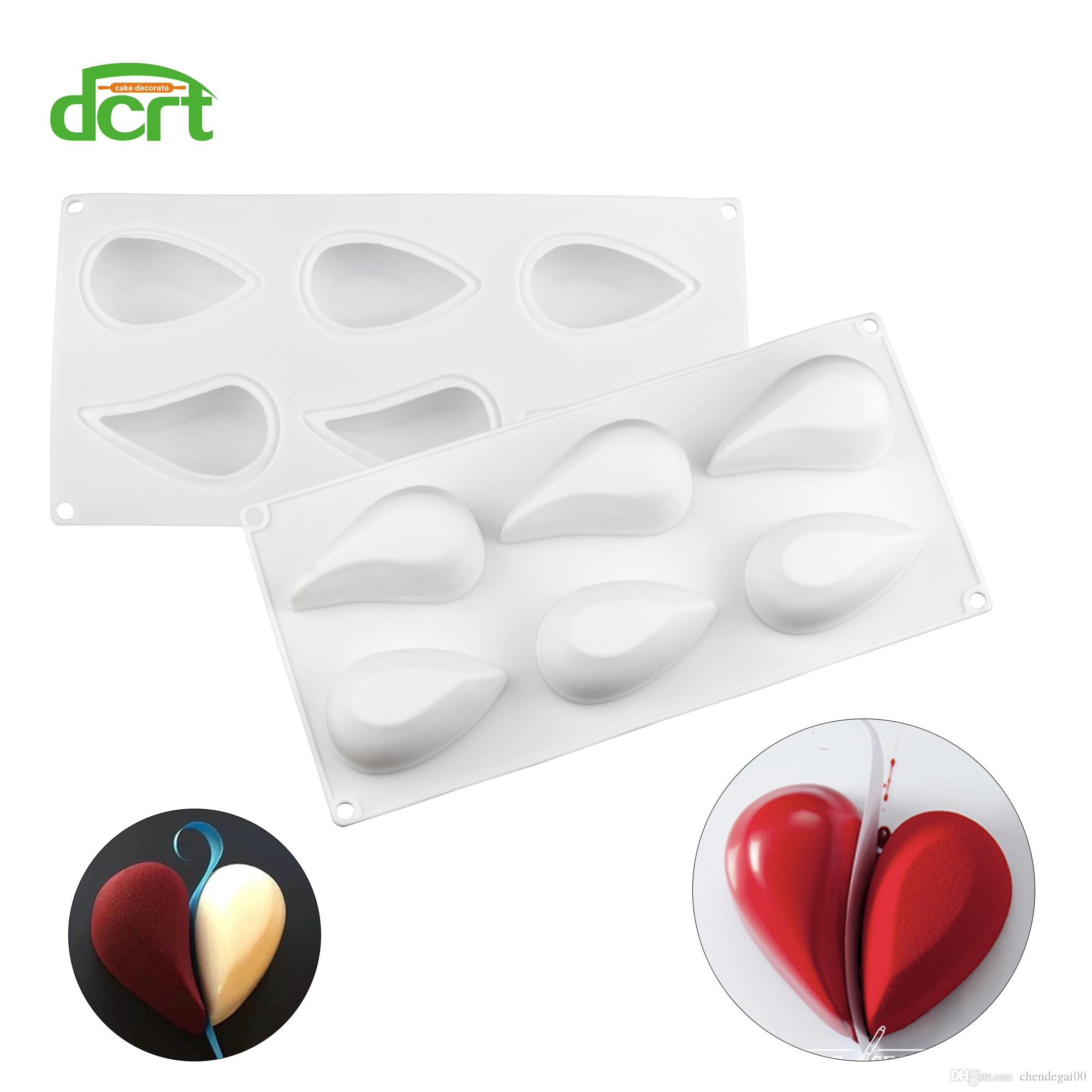 New Love Heart Shape Silicone Mould Cake Molds Mousse Dessert Chocolate Baking Mold Cake Decorating Tools
