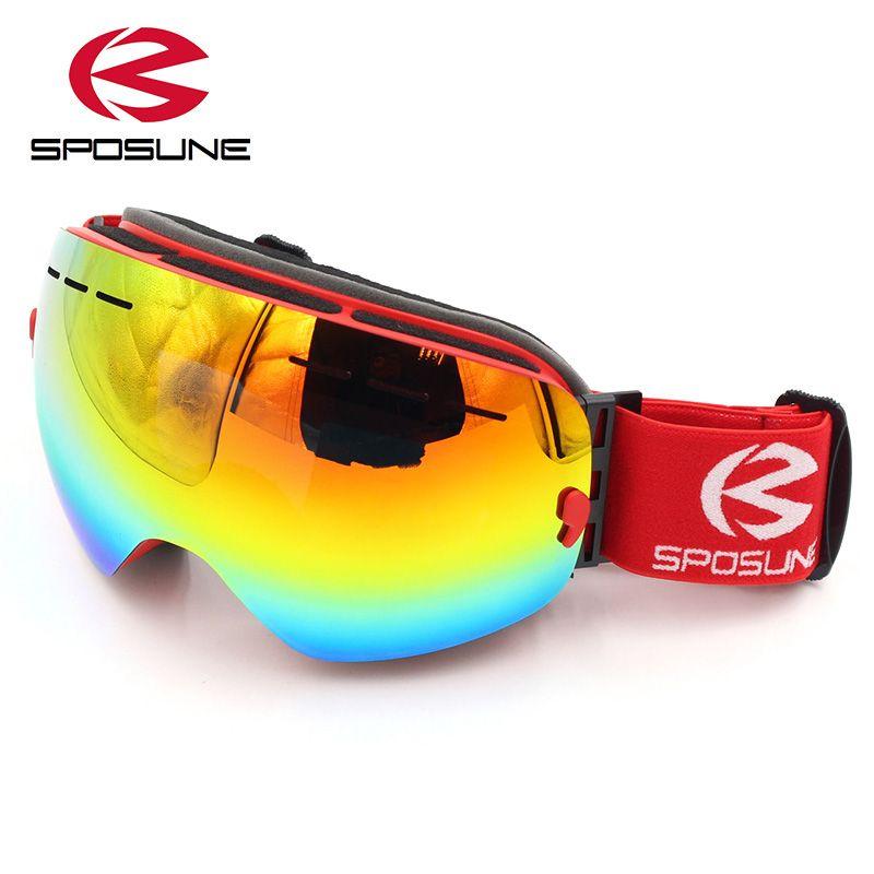 Unisex Kayak Gözlükleri Snowboard Maskesi Çift Katmanlar Windproof Anti-sis UV Koruma Gözler Koruma Gözlük Kar Kayak Gözlüğü