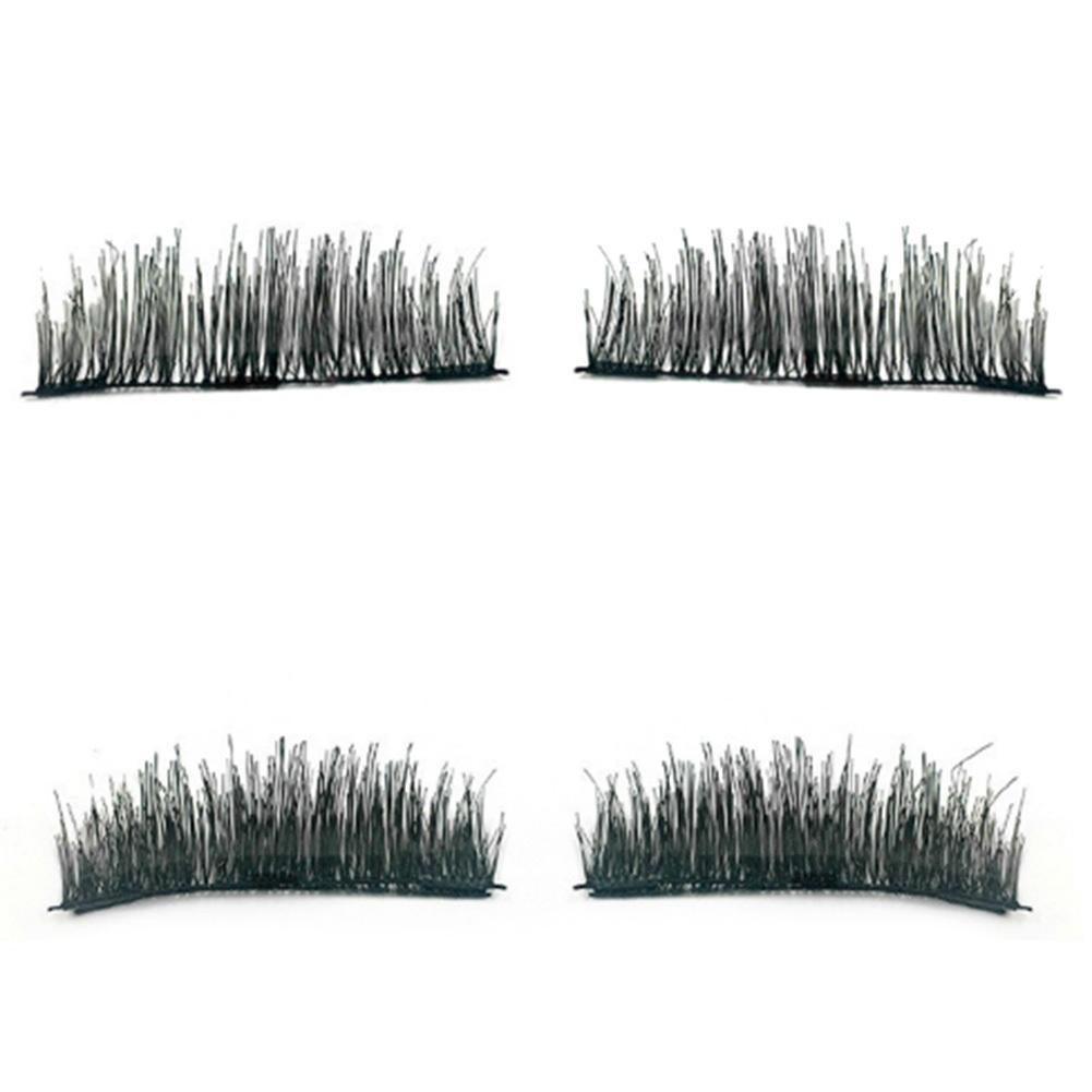 3 ímã 2 pares 3d ímã cílios magnéticos cílios postiços cílios postiços eye lashes maquiagem kit presente