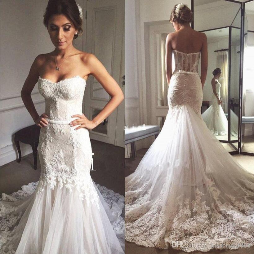 Full Lace Wedding Dresses Mermaid