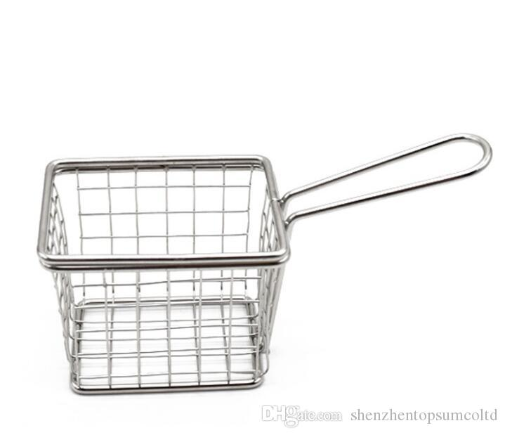Chips Mini Fry Baskets Stainless Steel Fryer Basket Strainer Serving Food Presentation Cooking Tool French Fries Basket
