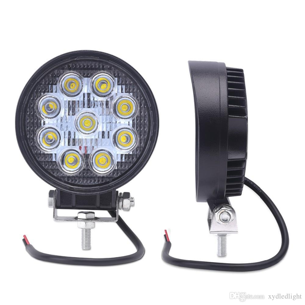 4INCH 48W LED WORK light 12V 4X4 tractor TRUCK 24V MOTORCYCLE ATV offroad fog lamp 48W LED Working DRIVING LIGHT bulbs4'' 27W LED Work Light