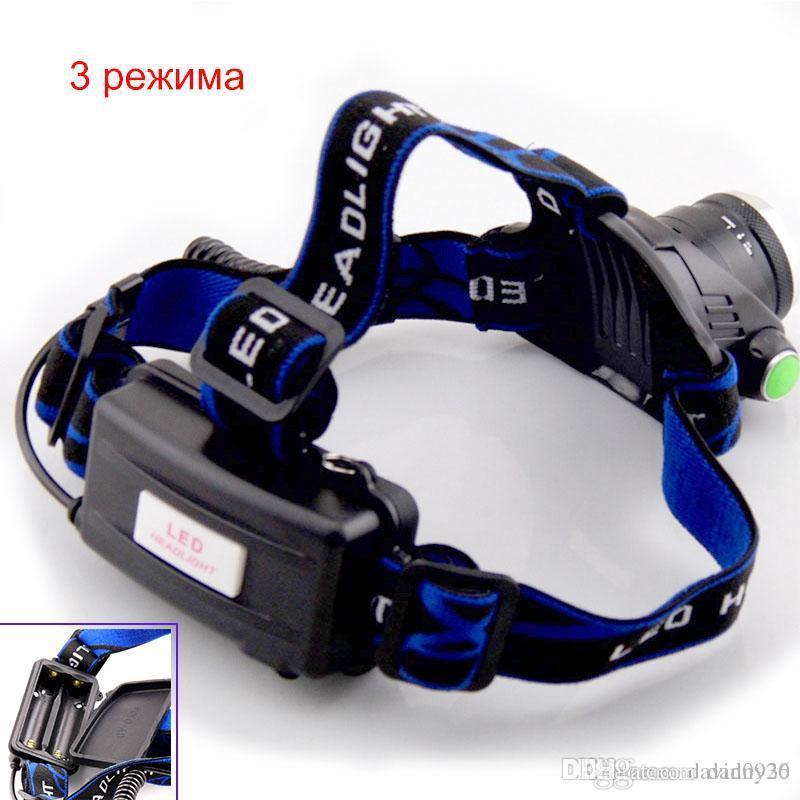 Wiederaufladbare CREE XML T6 5000 LUMENS Zoom-Kopflampe-Fackel-LED-Scheinwerfer-Scheinwerfer-Taschenlampe Laterne Nachtfischen