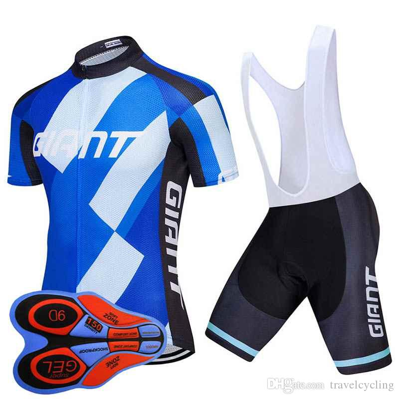 2018 GIANT Cycling jersey suit summer tour de france MTB bike clothing racing bicycle clothes quick-dry short sleeve sportswear 100618Y