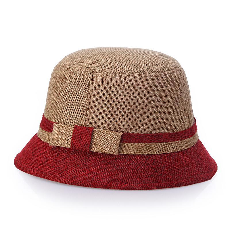 2018 moda yeni bahar ve yaz Renk keten Topper Visor Havzası Şapka Bayan Güneş Koruyucu şapka OUC3071