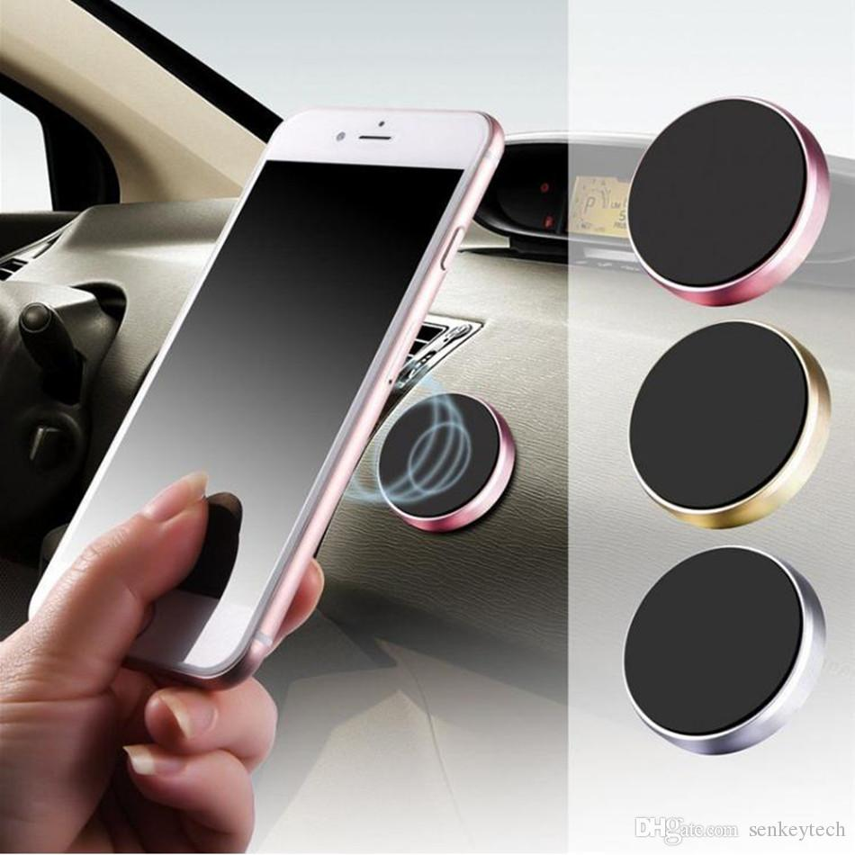 Magnetic Cell Phone Mount >> 2019 Magnetic Mobile Phone Holder Car Dashboard Mobile Bracket Cell Phone Mount Holder Stand Universal Magnet Wall Sticker For Iphone From Senkeytech