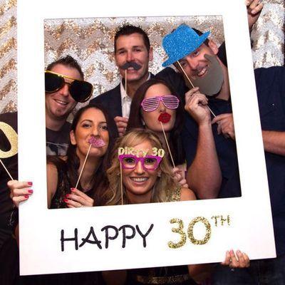 Счастливый 30 40 50 Год Рамка Photobooth Реквизит День Рождения Украшения Для Взрослых Событие Праздничные Атрибуты