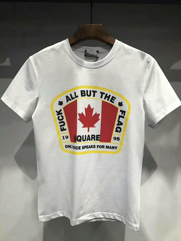 2018 Summer New Canada Print T-Shirt Men Slim Fit Fashion 100% Cotton Vintage T Shirts High Quality Brand Clothing Mens