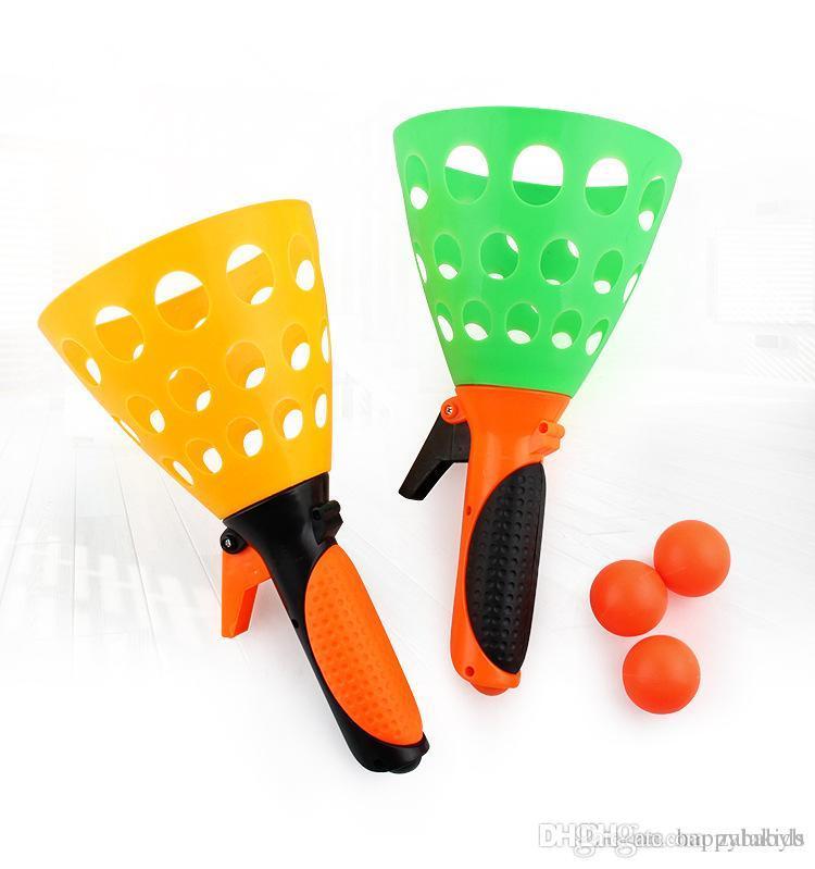 Más reciente 5pcs Juguetes de pelotas de proyectil Pelota de lanzamiento Deportes al aire libre Diversión entre padres e hijos Artículos de novedad interactivos de tiro y captura Enviar por envío rápido