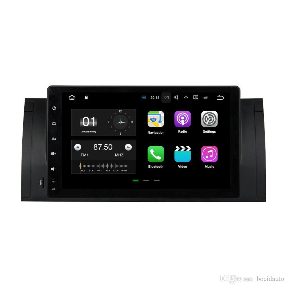 "1024 * 600 HD 9 ""أندرويد 7.1 سيارة راديو GPS رئيس وحدة الوسائط المتعددة سيارة دي في دي لسيارات BMW M5 E39 X5 E53 مع 2GB RAM بلوتوث 4G WIFI مرآة رابط"