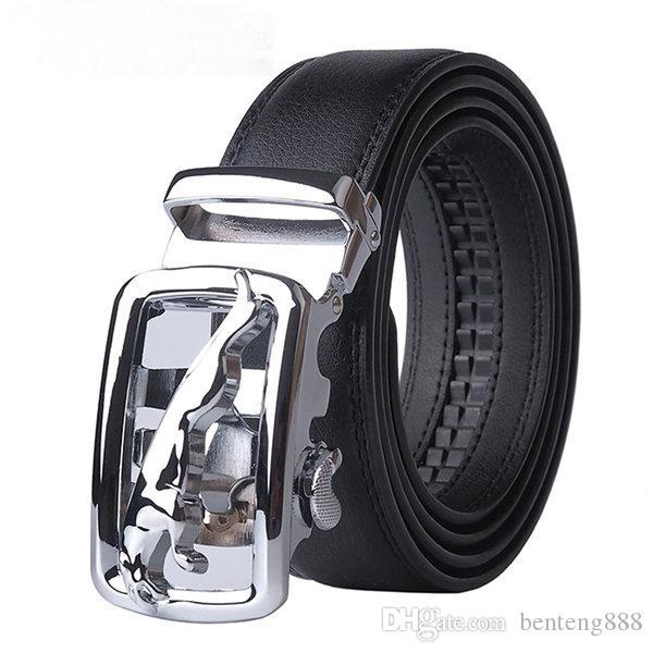 2018 Nuevo Diseñador de Hebilla Automática de cuero de Vaca de cuero de los hombres cinturones de Lujo de moda para hombres cinturones de diseño de los hombres de alta calidad BELT @ E350