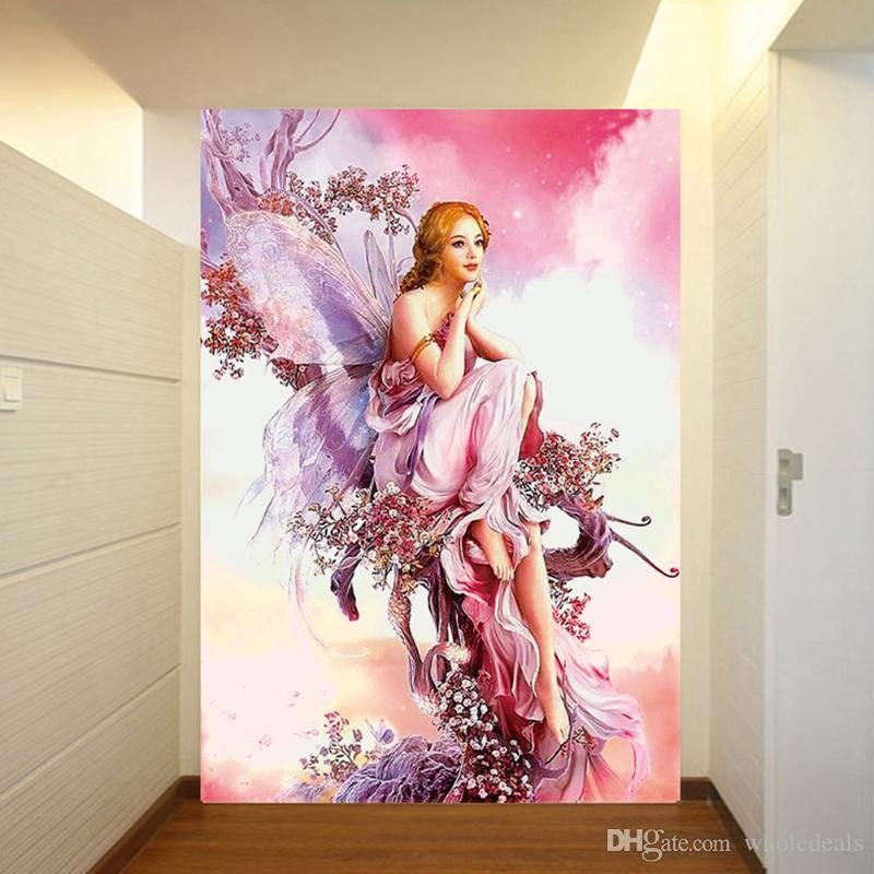 2020 New 5d Diy Diamond Painting Butterfly Fairy Paints Crystal