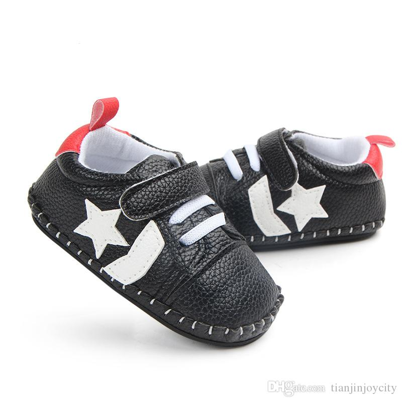 أزياء الطفل أحذية عدم الانزلاق المطاط بيبي بوي أحذية الأولى مشوا حذاء طفل رضيع لصبي بو الجلود الأخفاف الطفل الأسود براون