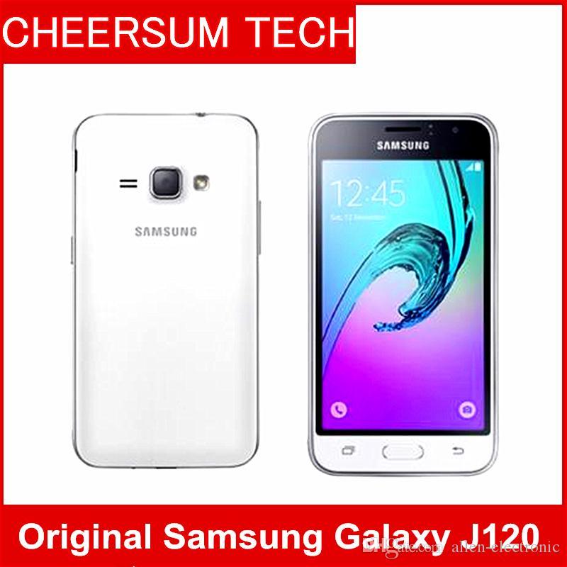 remodelados J120 Smartphone Samsung Galaxy J1 (2016) SM-J120 8GB de ROM `1GB RAM LTE android telefones celulares Móvel originais 5MP 4g 5pcs livre DHL