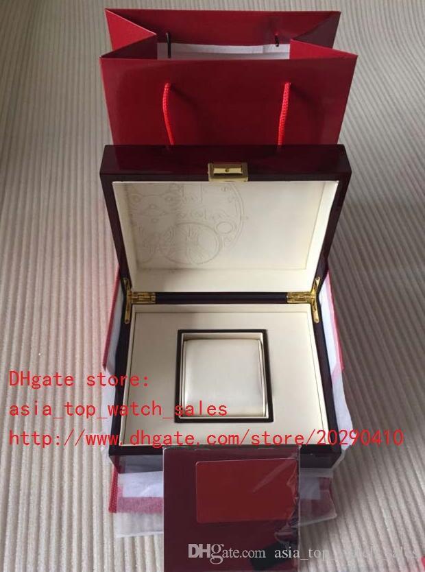 Nuevo Lujo de Alta Calidad Topselling Rojo Nautilus Reloj Original Caja de Papeles Tarjeta de Madera Cajas de Bolso Para Aquanaut 5711 5712 5990 5980 Relojes
