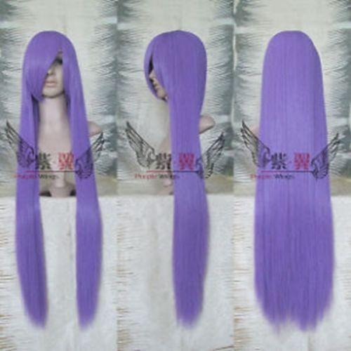 Détails sur Longue perruque droite violette 100CM Nouveau Cosplay + Livraison Gratuite Couleur: 2402