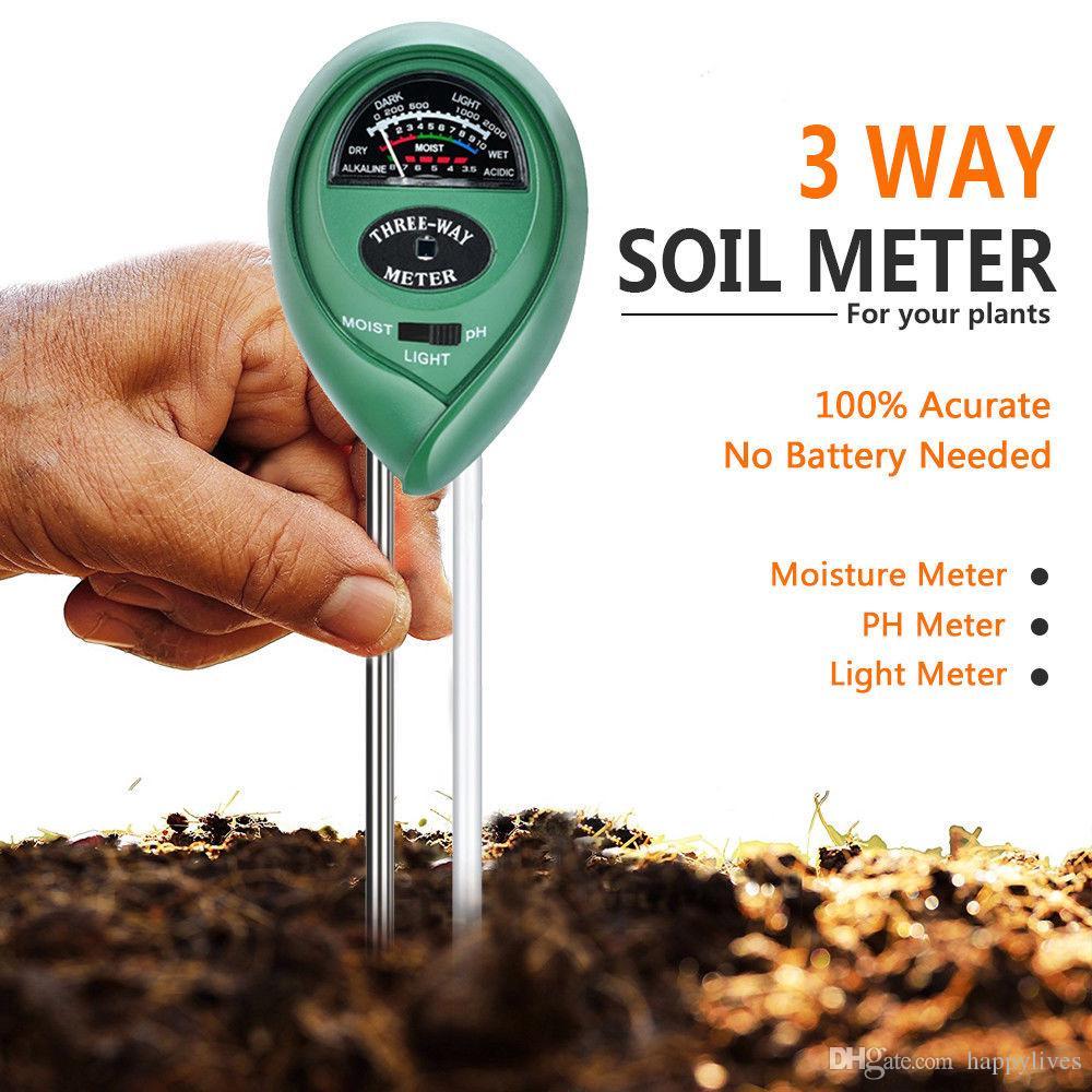 3 In 1 Ph Tester Soil Water Moisture Light Test Meter Kit Garden Plant Flower Soil Acidity And Humidity