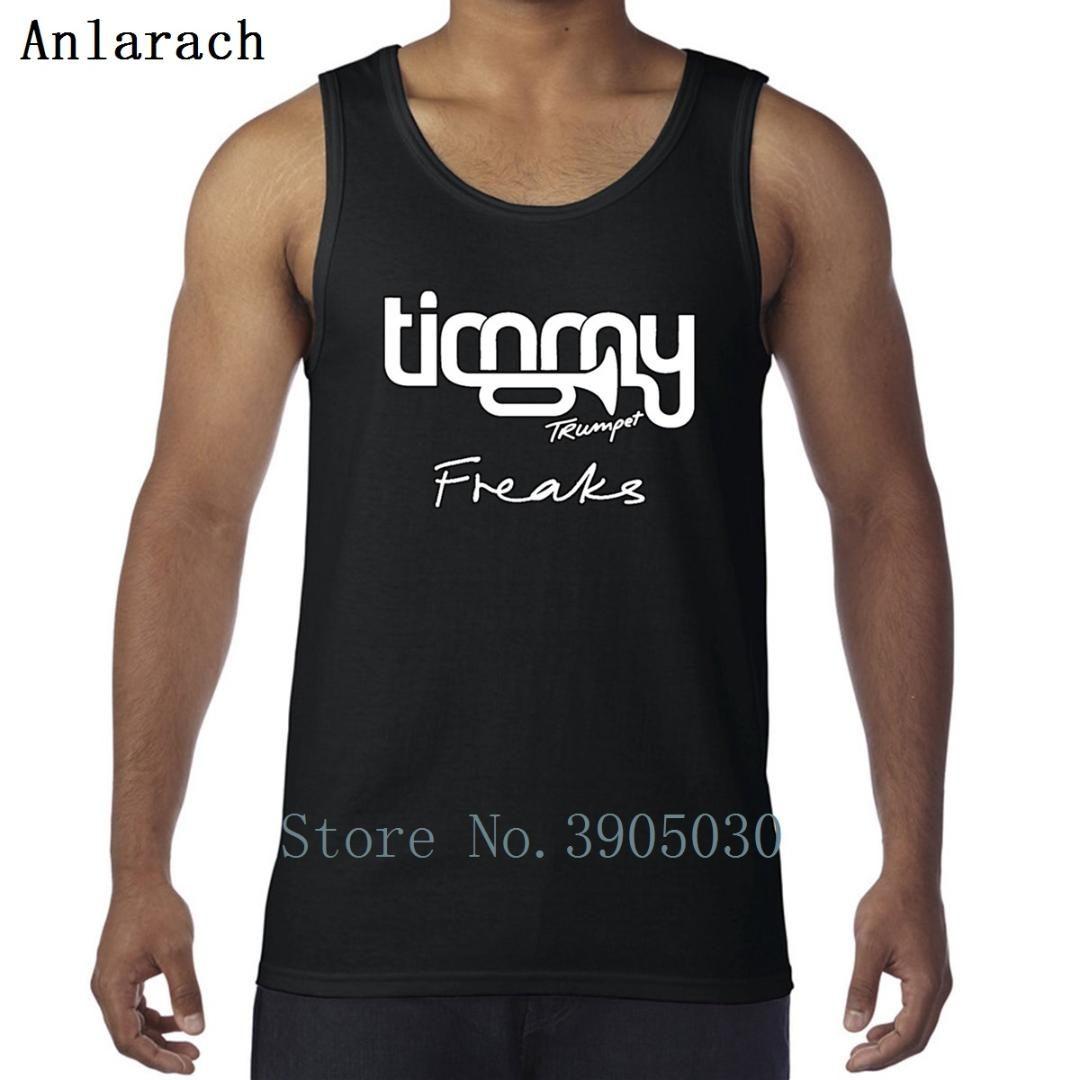 Timmy Trumpet Freaks Colete Muscle Fun Tanque de Impressão Original Para Homens Singlets Comical 2018 Anlarach 100% Algodão