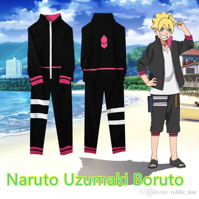 Asya Boyut Japonya Anime Hokage Naruto Uzumaki Boruto Cosplay Kostüm Unisex Üniforma Hoodie Coat Pantolon Tam Set