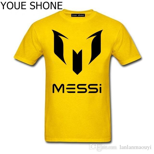 fashion Lionel Messi T-Shirts Barcelona Maglietta a manica corta da uomo Messi divertente maglietta in cotone Coppa del Mondo Argentina fan Top Tee