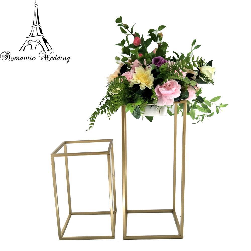 New Style Wedding Metal Gold Color Flower Vase Column Stand for Party Decoration Wedding Centerpiece Decoration 10pcs A Set