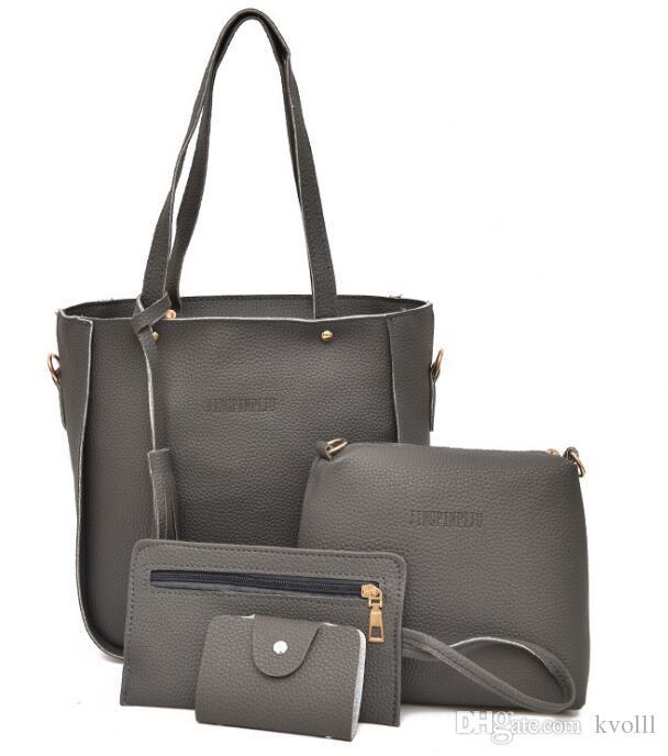 Vendita calda 30set / 120pcs 7 colori EUR USA Fashion shopping in pelle borse bella borsa della signora borsa da viaggio borse da viaggio a tracolla di trucco