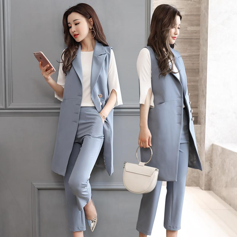 online sale buy half price 2019 New Fashion 2017 Autumn Casual Pant Suits OL Style Sleeveless Women  Sets Waistcoat Pants Hot Sale Elegant Female Vest Coat Sets From Rykeri, ...