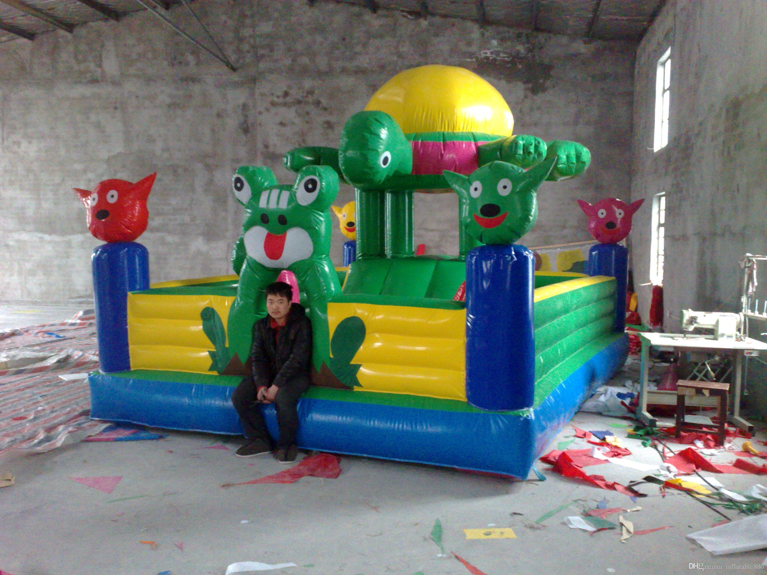 cute turtle new style colorful inflatable bouncer house for kids fun