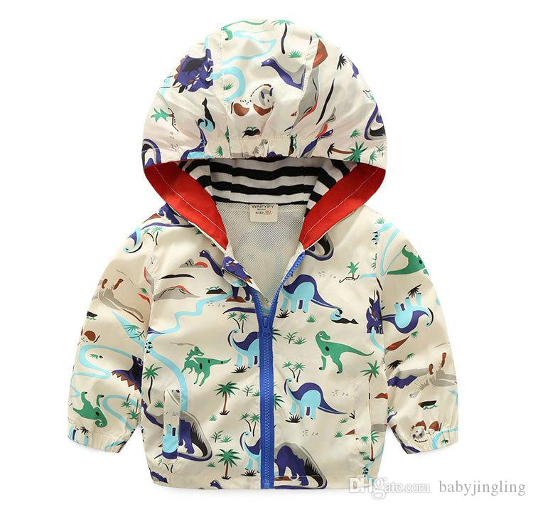 2019 İlkbahar Sonbahar Çocuk Erkek Hoodie Giyim Bebek Moda Fermuar Kazak Ceketler Erkek Çocuklar Uzun Kollu Rüzgarlık Ceket Giysileri