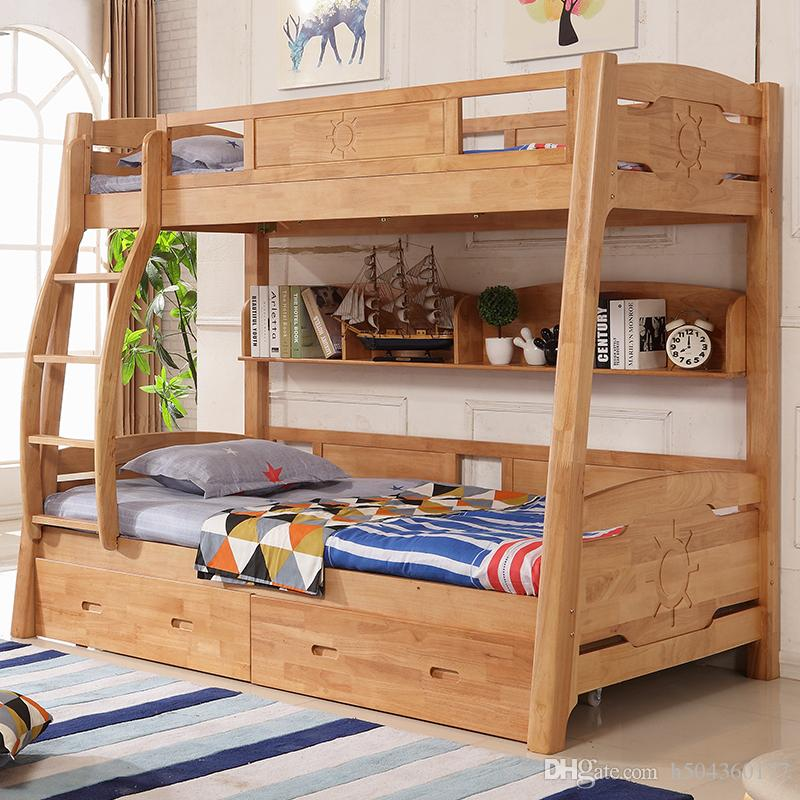 2019 All Solid Wood Childrens Bed, High And Low Bunk Bed, Boy And Girl,  Rubber Wood Double Bunk Bed From H504360177, $452.27 | DHgate.Com