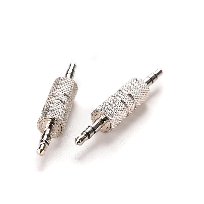 3.5mm Stereo Male to Male Jack Audio Plug Connector/Coupler Adapter Joiner