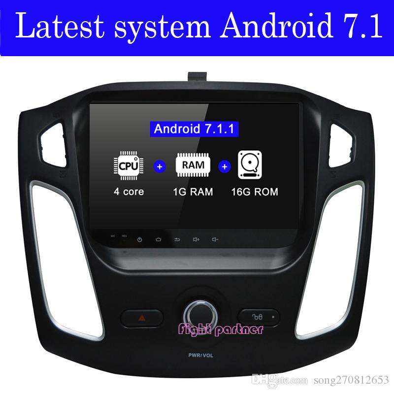 Factory price latest android 7.1.2 car dvd player gps navigation for Ford Focus 3 2012 2013 2014 2015 with BT Wifi GPS