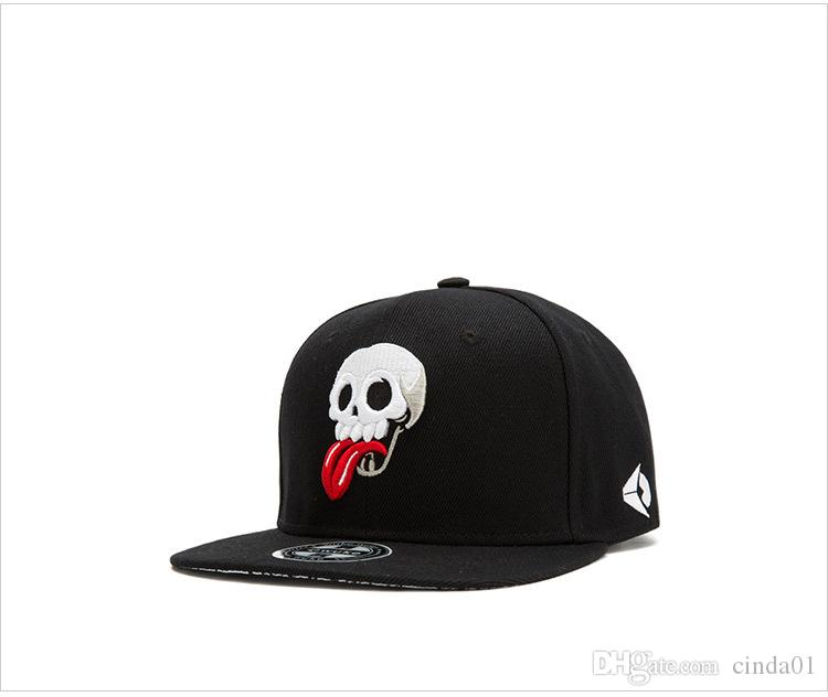 Funny Skull Printed Casual Male Female Designer Hats Unisex Hip Hop Hats Men Women Ball Caps
