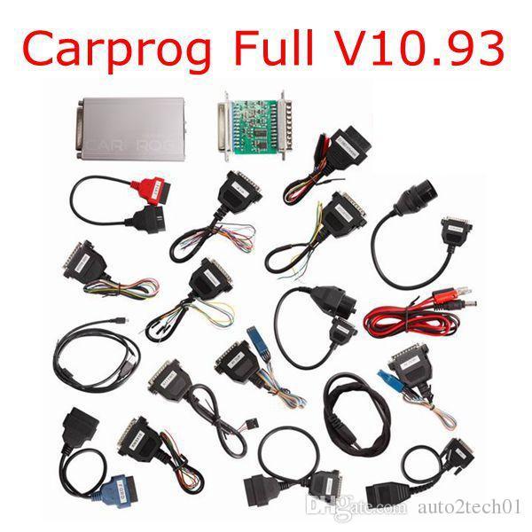 2018 Neueste Carprog V10.93 VOLLE neueste Version (mit allen 21 Einzelteilen Adapter) Unterstützung Airbag Reset-Funktion Gut CARPROG V10.93