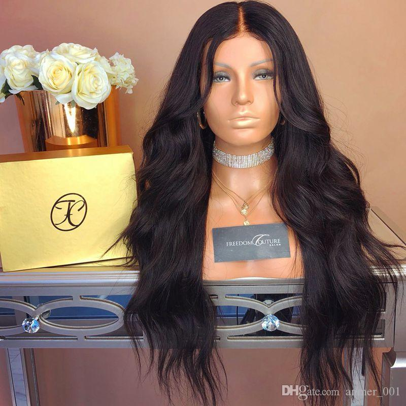 Lace Front Wig Natural color Loose Wave Brazilian Malaysian Virgin Human Hair Full Lace Wig Unprocessed Cheap Price For Selling