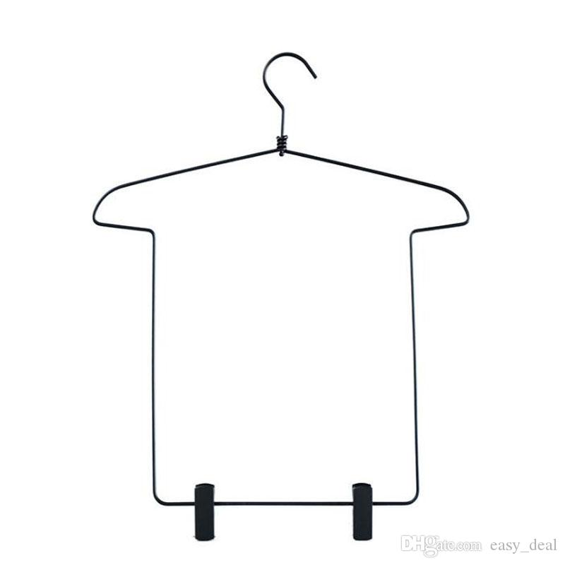 Plastic Clips Hanger for Children Bodysuit, Baby Pantsuit Metal Clothes Hanging Hanger Closet Storage Organizer QW7440