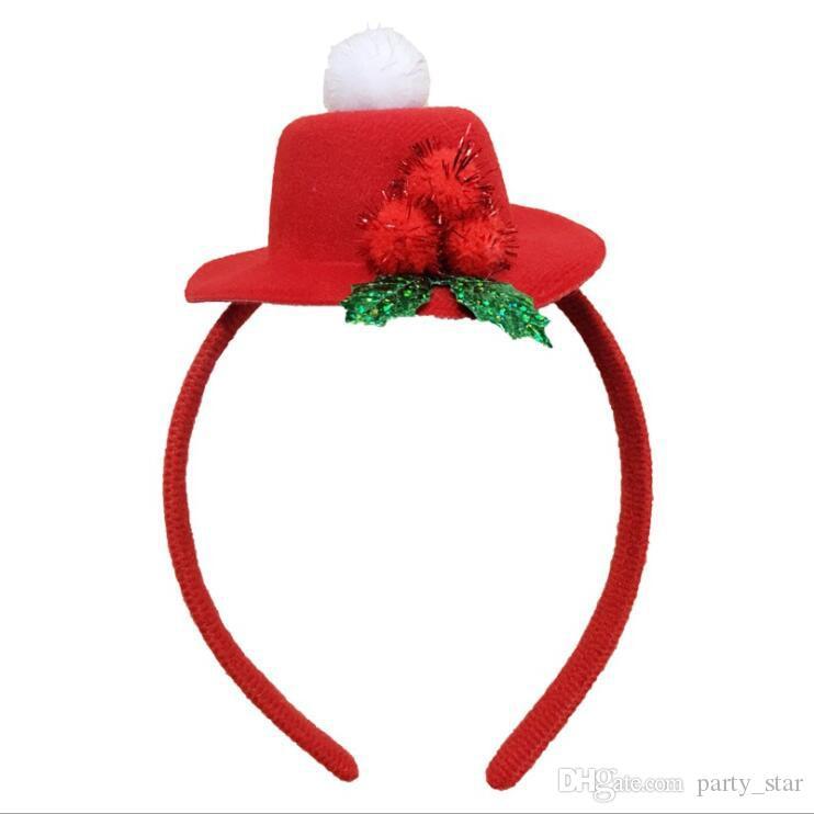 Moda Şapka Tasarım Noel Bandı Yetişkin Çocuk Parti Kutlama Bandı Sahne Noel Kafa Süslemeleri Drop Shipping